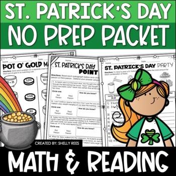 St. Patrick's Day Math - No Prep Packet