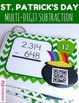 St. Patrick's Day Math Operations QR Code Bundle