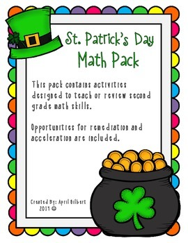 St. Patrick's Day Math Pack