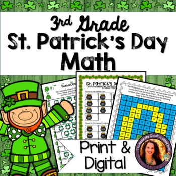 St. Patrick's Day Math for 3rd: Hidden Picture, Secret Message & MORE!!!