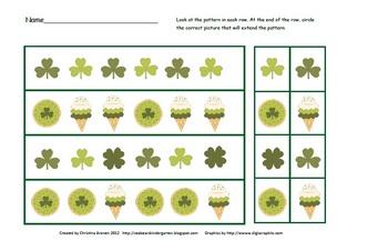 St. Patrick's Day Math Patterns