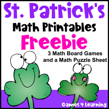 Free St Patrick's Day Math Activities - Games and Puzzle Sheet