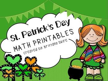 St. Patrick's Day Math Printables