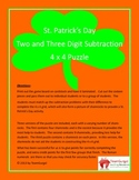 St. Patrick's Day Math Puzzle - Subtraction (Two and Three Digits)