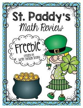St. Patrick's Day Math Review Freebie
