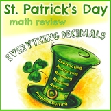 St. Patrick's Day Math Review Packet - Everything Decimals