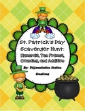 St. Patrick's Day Math Scavenger Hunt: Numerals, Ten Frame