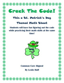 St. Patrick's Day Math Sheet