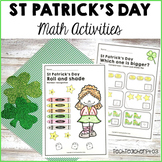 St Patrick's Day Math Centers Addition Graphing Ordinal Numbers and Patterning