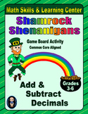 St. Patrick's Day Math Skills & Learning Center (Add & Subtract Decimals)