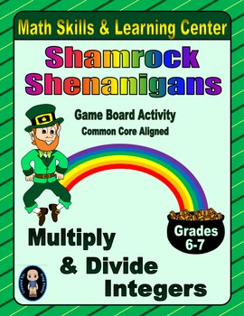 St. Patrick's Day Math Skills & Learning Center (Multiply & Divide Integers)