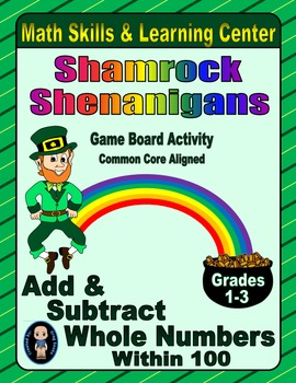 St. Patrick's Day Math Skills & Learning Center (Add & Sub