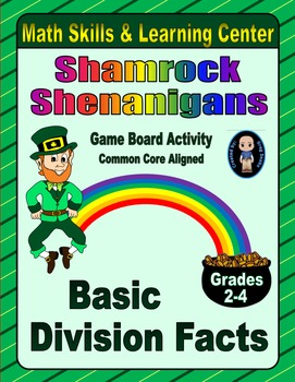 St. Patrick's Day Math Skills & Learning Center (Basic Division Facts)