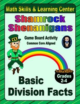 St. Patrick's Day Math Skills & Learning Center (Basic Div