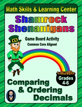 St. Patrick's Day Math Skills & Learning Center (Compare & Order Decimals)