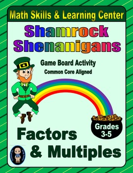 St. Patrick's Day Math Skills & Learning Center (Factors & Multiples)