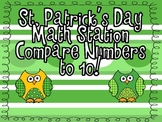 "St Patrick's Day Math Station ""Comparing Numbers to 10!"""