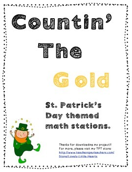 St. Patrick's Day Math Stations COMMON CORE ALIGNED
