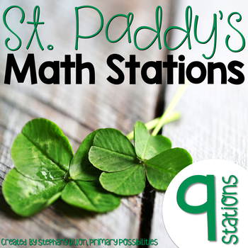 St. Patrick's Day Math Stations for March