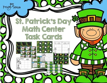 St. Patrick's Day Math Task Cards