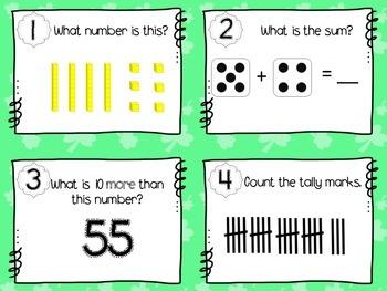 St. Patrick's Day Math Task Cards (1st Grade)