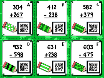 St. Patrick's Day Math Task Cards (2nd gr CCSS aligned) with QR codes