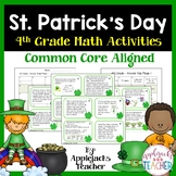 St. Patrick's Day Math Task Cards - 4th Common Core
