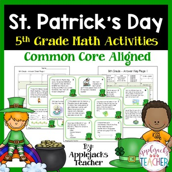 St. Patrick's Day Math Task Cards - 5th Grade Common Core