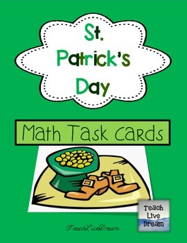 St. Patrick's Day Math Task Cards (FREE!)