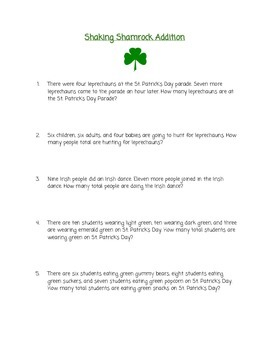 St. Patrick's Day Math Unit