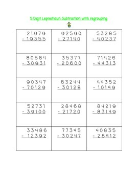 St. Patrick's Day Math Unit