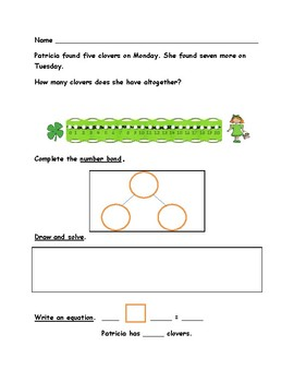 St. Patrick's Day Math Word Problems-Use Multiple Strategies-First Grade
