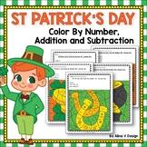 St Patricks Day Math Worksheets Activities for Kindergarten