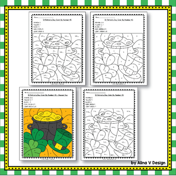 St Patricks Day Math Worksheets Activities for Kindergarten