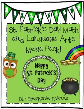 St. Patrick's Day Math and Language Arts Activities #easterbunny