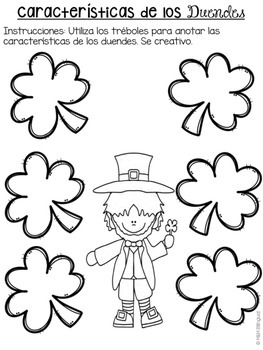 St. Patrick's Day Math and Literacy Activities *Dual Language*