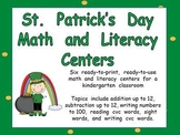 St. Patrick's Day Math and Literacy Centers- Kindergarten