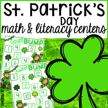 St. Patrick's Day Math and Literacy Centers for Preschool,