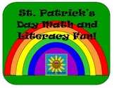 St. Patrick's Day Math and Literacy Fun- Includes 8 Fun Ac