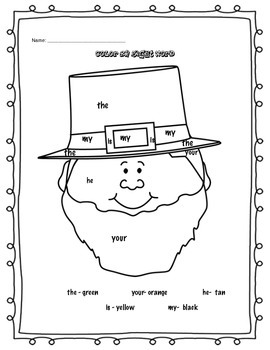 St. Patrick's Day Math and Literacy Pack