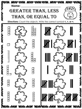 St. Patrick's Day Math and Literacy (Print & Go-Common Core Aligned) 40 Pages