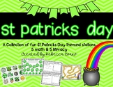 St. Patricks Day Math and Literacy Stations