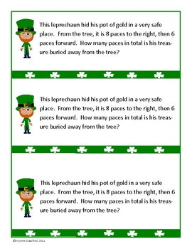 St. Patrick's Day Math Journal Prompts (kindergarten)