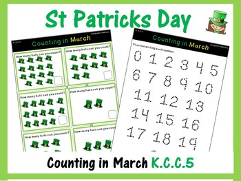 St Patricks Day Maths - Counting in March (Numbers 0-20) K.CC.B.5 (Pixel Art)