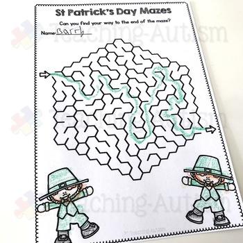 St Patricks Day No Prep Mazes