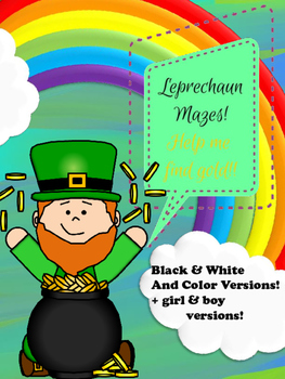 St. Patricks Day Mazes!  Help the Leprechaun Find His/ Her Gold!!
