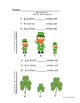 St. Patrick's Day Measurement Math Worksheets