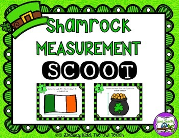 St. Patrick's Day Math Game:  Measurement SCOOT