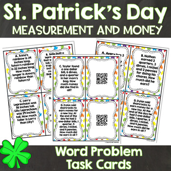 St. Patricks Day Word Problems: Measurement and Money