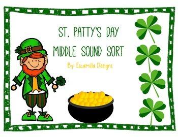 St. Patrick's Day Medial Sound Sort
